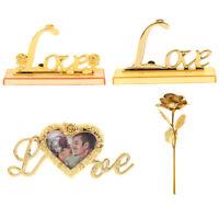 Foil Plated Rose Gold Rose Wedding Decoration Flower Valentine's Day G~HK