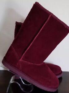 Cherokee ~ Girls' Boot Size 4 ~ Tessa ~ Burgundy ~ Genuine Suede Upper Boots