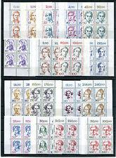 Berlin Frauen postfrisch Eckrand Viererblock VB ungefaltet 830,824-828,848-849