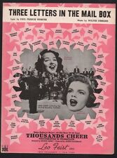 Three Letters In The Mail Box 1943 Judy Garland in Thousands Cheer Sheet Music