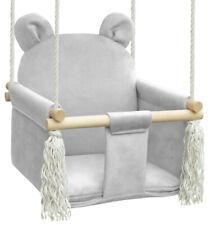 Babyschaukel Kinderschaukel Holz Indoor Schaukel BEAR CASHMERE