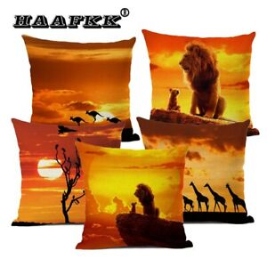 African Landscape Oil Painting Pillow Home Art Decoration Cushion Cover High