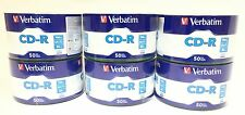 300 VERBATIM Blank CD-R CDR Logo Branded 52X 700MB 80min Recordable Media Disc