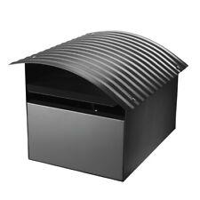 Sandleford Grey Woodland Ripple Letterbox 210x185x290mm Galvanised Steel