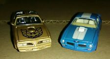Racing Champions 1:64 (Gold) '78 PONTIAC T/A Real Riders+Hotwheels '70 Blue T/A