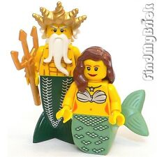 M632 Lego Neptune Ocean King Merman & Princess Mermaid Custom Minifigs lotr NEW