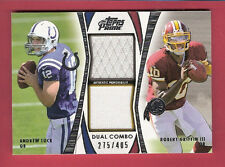 ANDREW LUCK ROBERT GRIFFIN III RG3 ROOKIE RC JERSEY CARD #d405 Colts REDSKINS