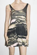 Oneteaspoon Designer Multi Black Evil Dress Size 12-M BNWT #SG64