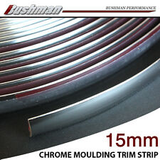 Holden 15mm Moulding Trim Strips Exterior Roof Grille Door Chrome Silver Tape 5M