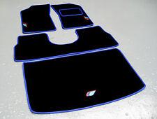 schwarz/blau Fußmatten - Peugeot 205 + TALBOT SPORT LOGO (x3) +Sattel+