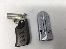 LOT 2 VINTAGE Lighters Figural Pistol Lighter And Airplane Plane Butane Lighter