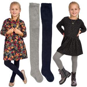 Kinder Uni Baumwolle Blickdicht Winter Strumpfhose 5 Farben Mädchen Warm Weich