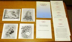 1991 Disney's Winnie The Pooh and Christmas Too  Press Kit W/4 Glossy B&W Photos