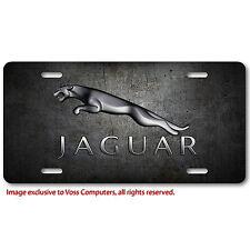 Jaguar Aluminum Metal Car Auto License Plate Tag Abstract Art New British Rustic