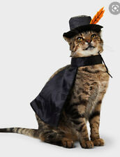 Halloween Pet Cloaked Hero Set Costume Cape Hat Cat Nwt One Size