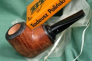 Stunning NEW HAND CARVED & Autographed Polinski Short Chunky 9mm Freehand,Poland