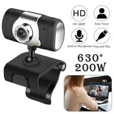 More details for webcam for desktop laptop computer camera + microphone video web cam 1080p hd