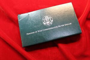 1994 U.S. VETERANS PROOF  SILVER DOLLAR  COMMEMORATIVE COIN  WITH BOX & COA