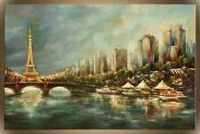 """Victor Zag - Paris a La Seine- Cityscapes  - Giclee Reproduction  30""""x45"""""""