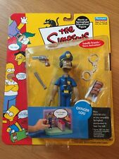 The Simpsons Officer Lou Figure, World Of Springfield, Playmates, MISP (B24)