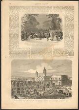 PARIS THEATRE DE LA GAITE CADET LA PERLE ROYER MATAMOROS MEXICO 2 GRAVURES 1866