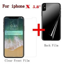 Anti-scratch Front and Back Clear Screen Protectors Film FOR new iPhone X 5.8""