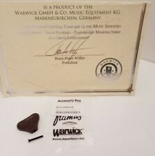 New! Warwick Wooden Peg made of Wenge with black Screw Sp W 30040 W B