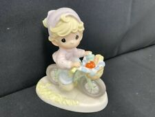 Precious Moments The Road To A Friend Is Never Long Girl on Bicycle Figurine