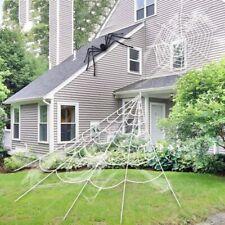 Decoración de Halloween De Utilería gigante SPIDER WEB Party Decoración al aire libre vestido de fantasía