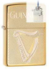 Zippo 29651 Guinness Beer Brass Lighter & Z-PLUS INSERT BUNDLE