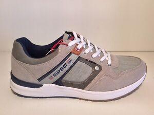 Chaussures Hommes RHAPSODY 703042 Avec Gris Toile Baskets Mode