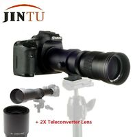 JINTU 420-1600mm Telephoto Lens for Canon EOS 1300D 1100D 750D 650D 200D 77D 80D