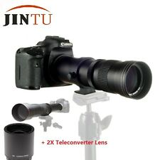 JINTU 420-1600mm f/8.3 Telephoto Lens & 2X Teleconverter lens For NIKON Camera