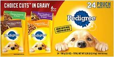 Pedigree Choice Cuts in Gravy Adult Wet Dog Food Variety Packs 3.5 Oz 24 Pouches