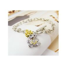Stylish Cute Teddy Bear Charm Silver Alloy Bracelet (443)