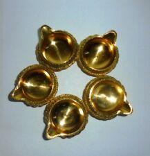 5 Brass Diyas kuber diwali Navratri Diwali Home Decor Gift RELIGIOUS EDH HOME