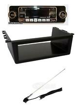 Classic Car Retro Look Black CD Player / Mounting Tray and Chrome Roof Aerial