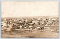 Lebanon South Dakota~Bird's Eye View~Homes~Downtown~Barns~Stables~c1910 RPPC