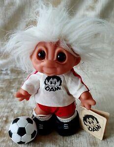 "Vintage 80's Soccer TROLL DOLL 7"" ""D.A.M"" Denmark NEW"