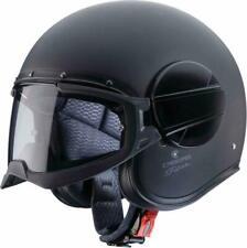 Caberg fantasma de motocicleta cara abierta casco jet negro mate de carbono