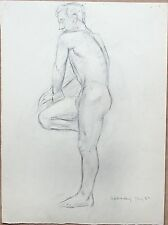 Elspeth Buchanan (1915-2011) Life drawing of a standing male nude. Royal Academy
