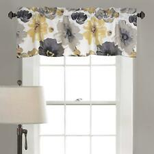 Leah Room Darkening Window Curtain Valance, 18 inch x 52 inch, Yellow