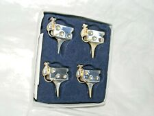 More details for set of 4 silea silver plate cheese mouse cheese labels , place settings