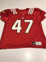 693c20d02246 Game Worn Used Louisville Cardinals UL Football Jersey Adidas Size 50  47