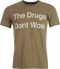 Camisetas de hombre de manga corta en marrón 100% algodón
