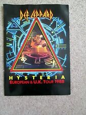 More details for def leppard hysteria european & u.k. tour 1988