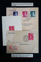 Germany 3 Occupied Poland Stamped Covers