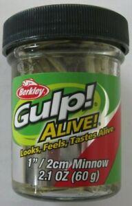 "Berkley Gulp! Alive! Minnow - 1"" - 2.1 oz. Jar - Smelt"