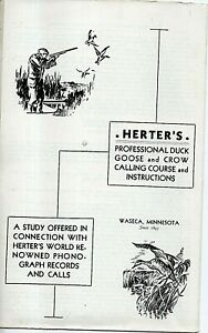 73465 Herters Professional Duck Goose & Crow Calling Course brochure Waseca 1941
