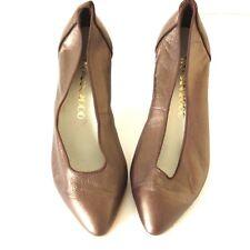 Women's Vintage WOMEN 2000 Heel Bronze 100% Leather Court Shoes Pumps UK5 EUR38